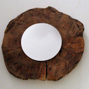 Espejo de madera de salce
