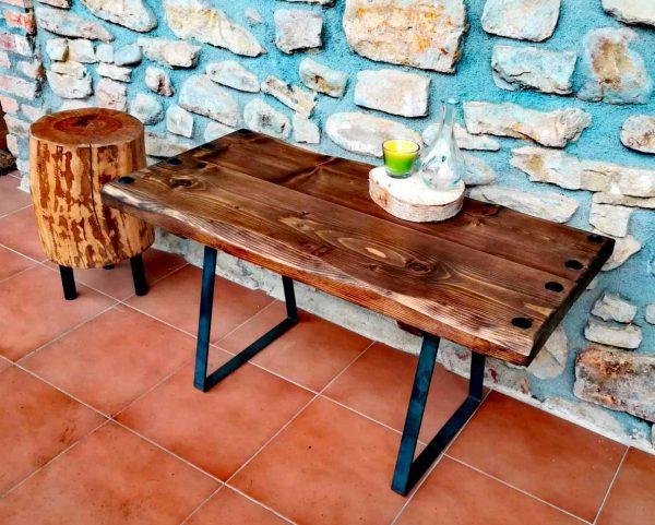Mesa de madera de pino de Suecia