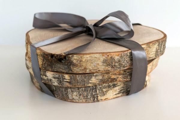 Pack de 4 bajoplatos de madera de abedul